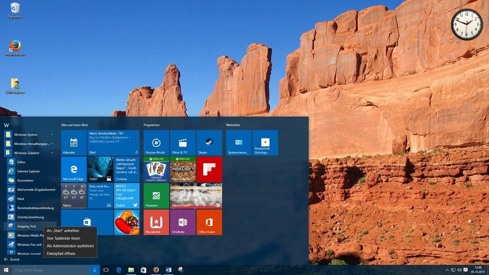 Windows 10 Snipping Tool Verknüpfung erstellen