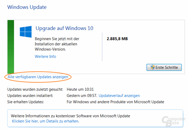 Windows 10 Normale Ansicht