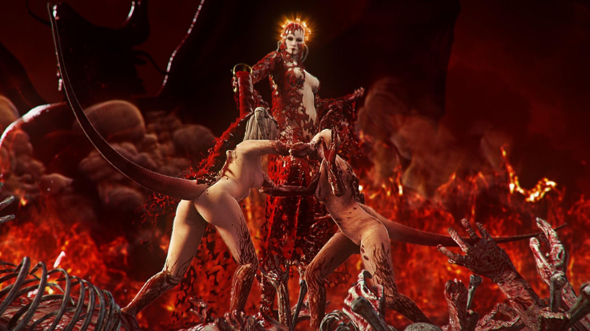 Agonie Dämon begrüßt Sie die Hölle