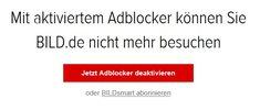 BILD.de und Co.: Adblock-Sperre umgehen – so geht's