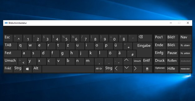 Windows 10: Bildschirmtastatur aktivieren & deaktivieren – so geht's