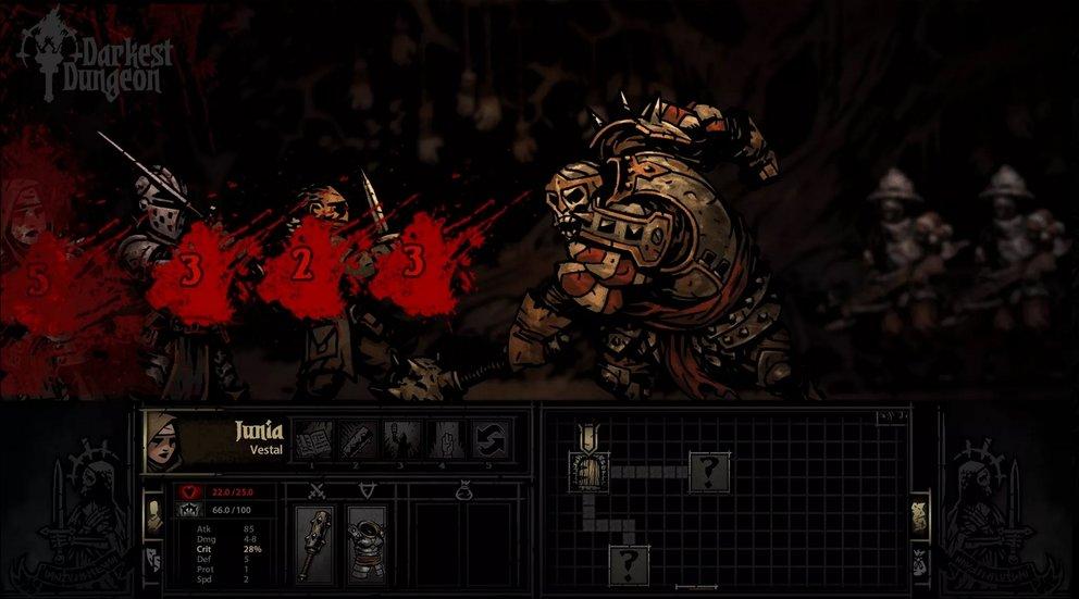 Darkest Dungeon: Nicht nur körperlich machen euch die Feinde zu schaffen.