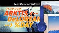 Arktis DeLorean %Day: Fette Rabatte auf Macs, iPads und jede Menge Zubehör (nur am 21.10.2015)