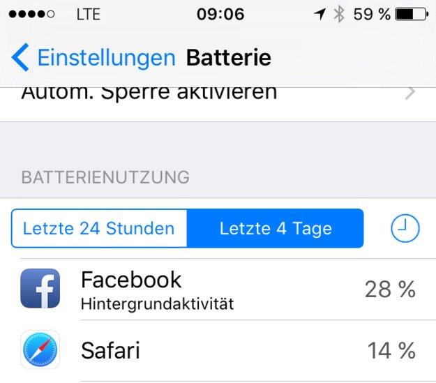 Facebook-App umgeht Hintergrundaktivität-Sperre des iOS 9