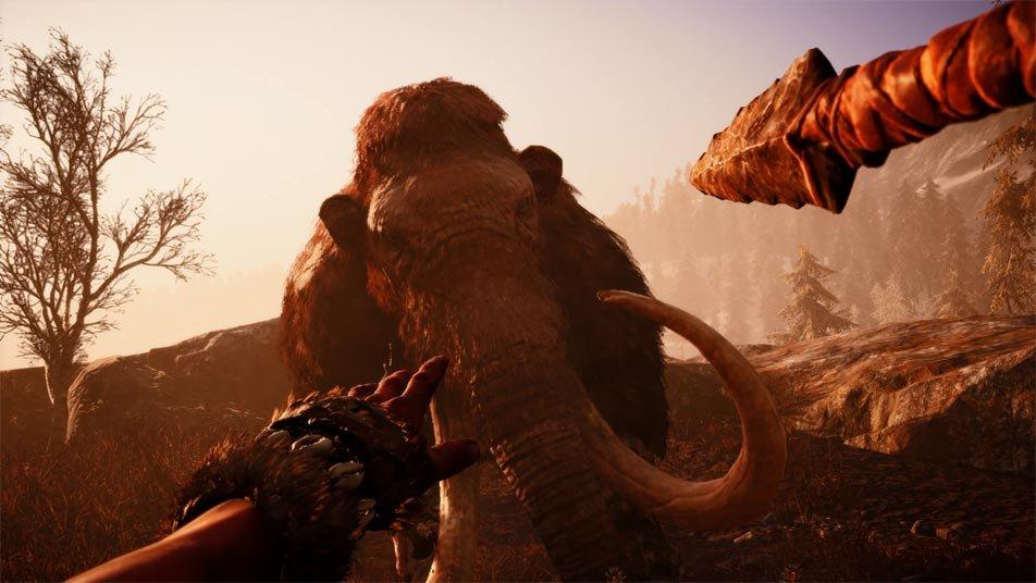 Far Cry Primal: Mit Speer gegen Mammuts.