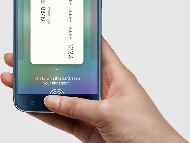 Samsung Galaxy S6: Ob der Misch-Fingerabdruck auch für Geldüberweisungen oder Zahlungen gültig ist, bleibt unklar. Bildquelle: Samsung.com