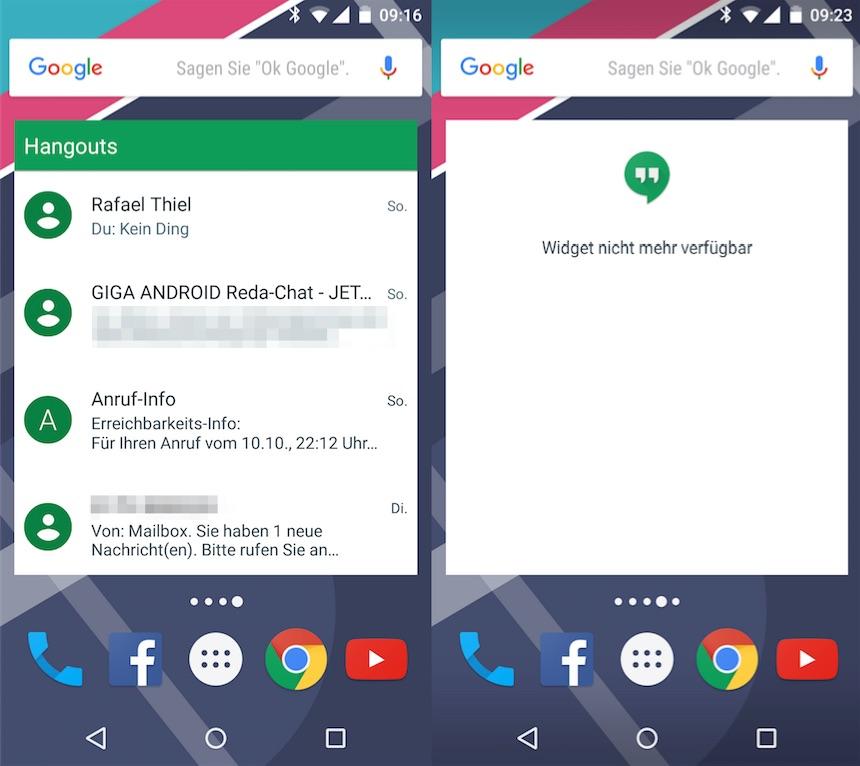 Google Hangouts 5.0 repariert GIF-Support, streicht Widget