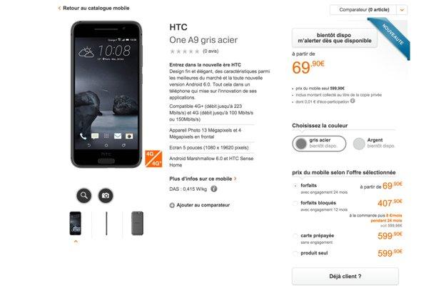 Whoopsie: Händler listet HTC One A9 im iPhone-Look – 5 Tage vor der Vorstellung