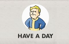 Vault-Boy is not amused: Black...