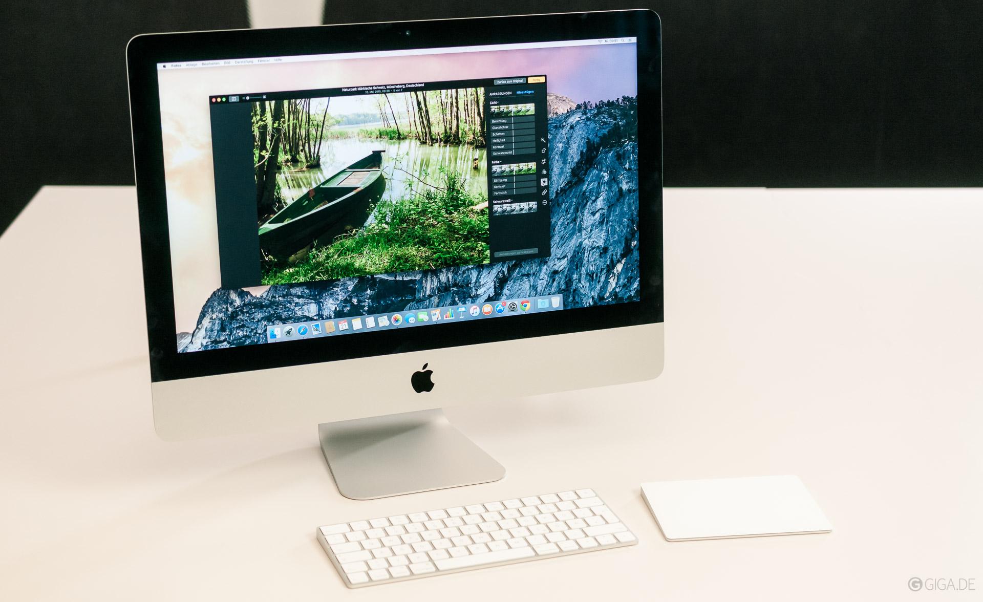 21 5 zoll imac mit retina 4k display daten preise test herbst 2015 alle infos bei giga. Black Bedroom Furniture Sets. Home Design Ideas