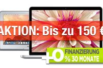 MacBook Air und MacBook Pro Retina:<b> Mit Gutscheinen bis zu 150 Euro Sofortrabatt (bis 15.2.16)</b></b>