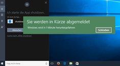 Mit Cortana den PC herunterfahren oder neustarten – so geht's