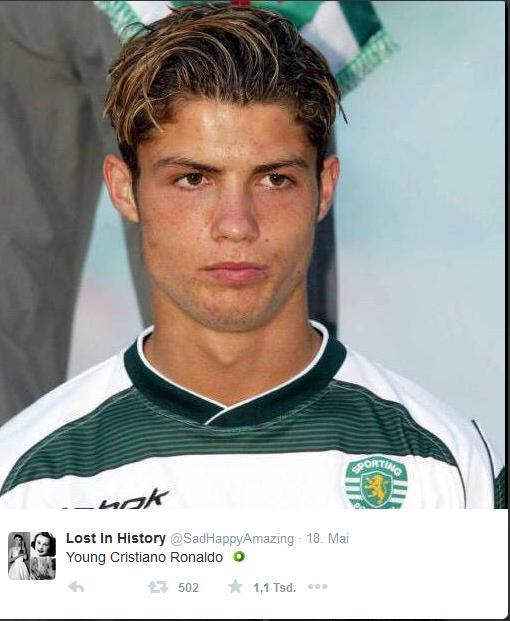 ... im hochklassigen Fußball machte Ronaldo im Trikot von Sporting Lissabon.