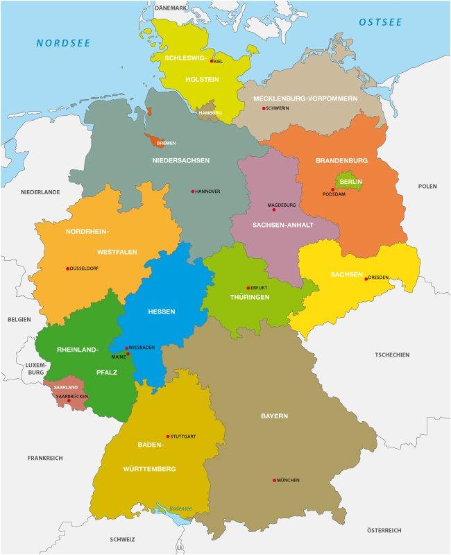 Abkurzungen Der Bundeslander In Deutschland Tabelle