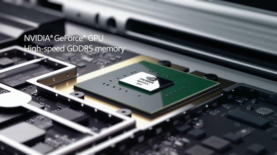 Surface Book: Die Grafikkarte soll aufgrund der Chip-Form eine modifizierte Nvidia GTX 950M sein.