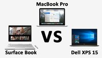 Surface Book vs. MacBook Pro 15'' vs Dell XPS 15 – Daten im Vergleich