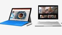 Surface Pro 4 mit 12,3 Zoll & Surface Book mit 13,5 Zoll vorgestellt