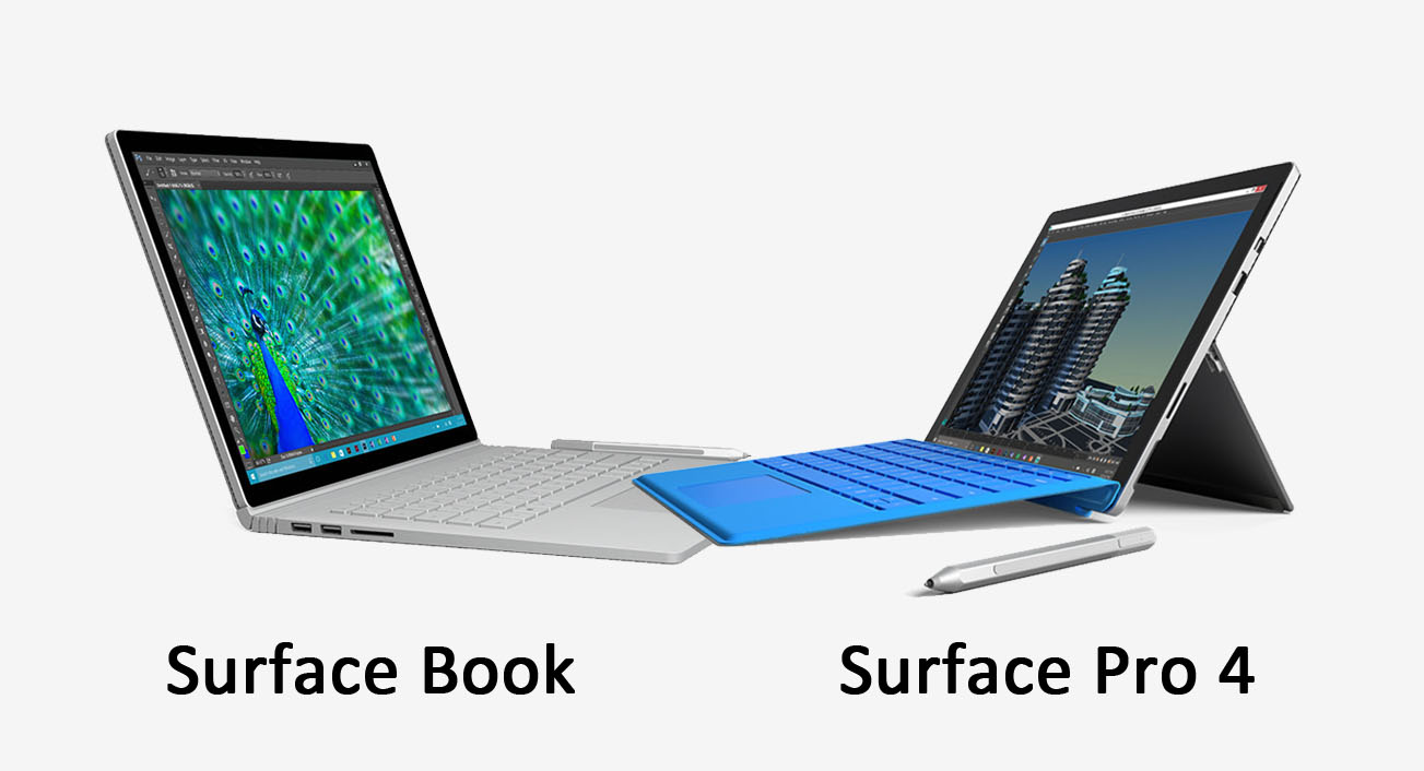 surface pro 4 vs surface book hardware daten im vergleich giga. Black Bedroom Furniture Sets. Home Design Ideas