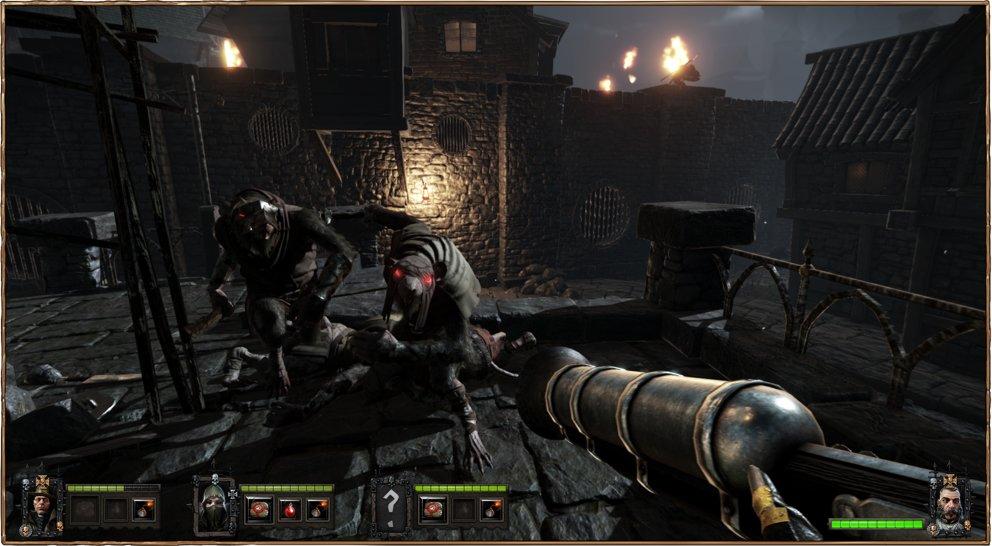 Warhammer - End Times Vermintide: Selbst Pistolen kommen zum Einsatz.