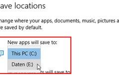Windows 10: Speicherort von...