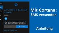 Windows 10: Mit Cortana SMS senden – So geht's