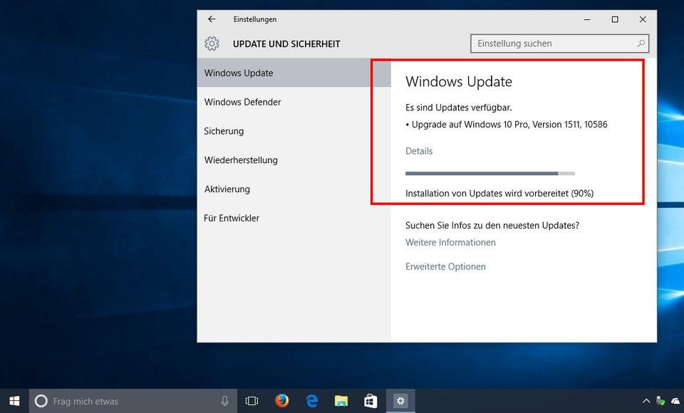 Wenn Windows 10 Updates lädt, kann das Internet langsam sein.