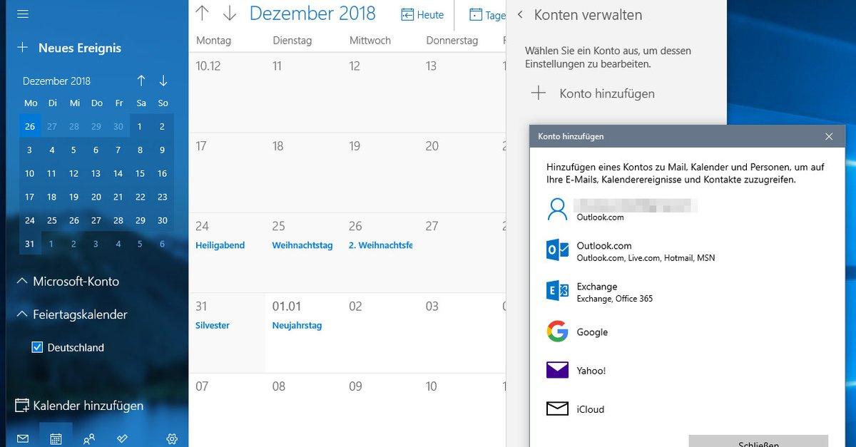 Google Kalender Mit Windows 10 Synchronisieren