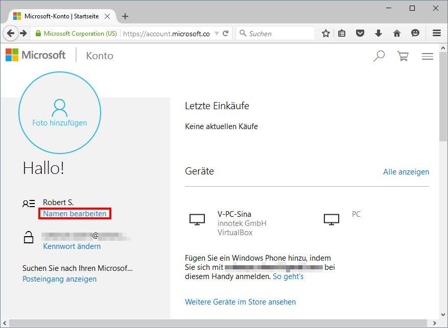 Windows 10 Benutzernamen Г¤ndern