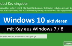 Windows 10 mit altem Key von...