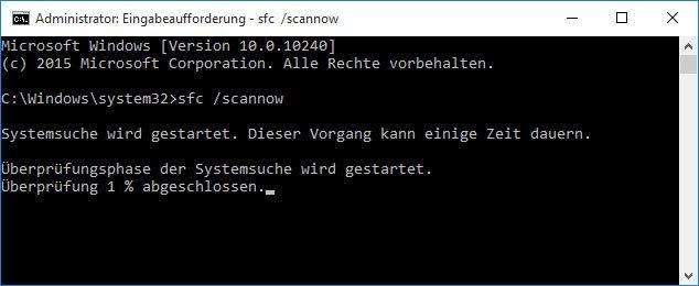 Wenn Systemdateien in Windows 10 beschädigt sind, kann es langsamer laufen.
