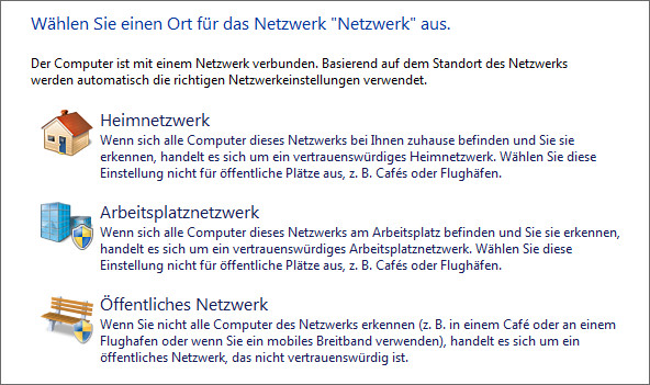 change public to private network windows 7