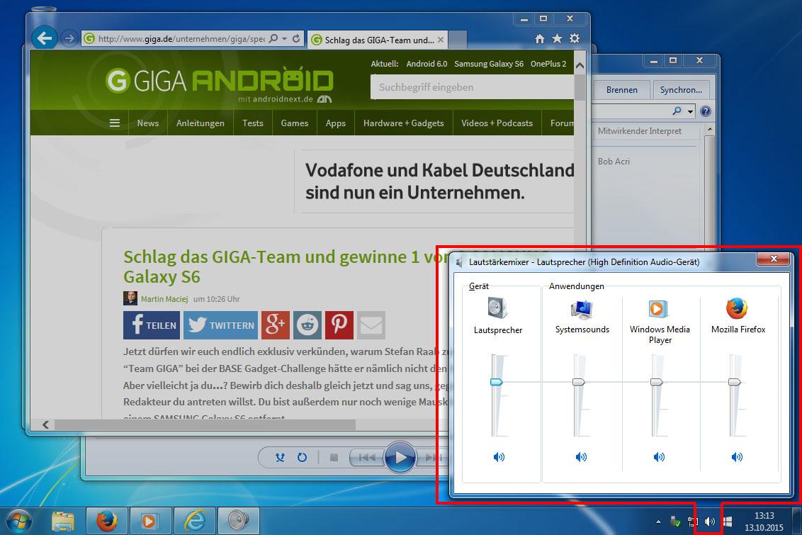 Windows 10 Lautstärke