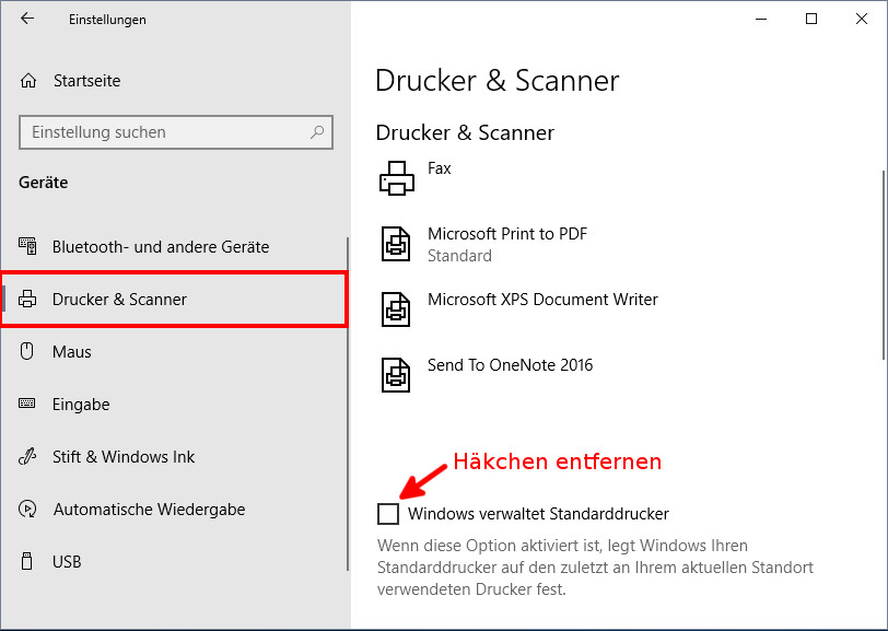 Windows 10 Standard Drucker ändern Festlegen So Gehts