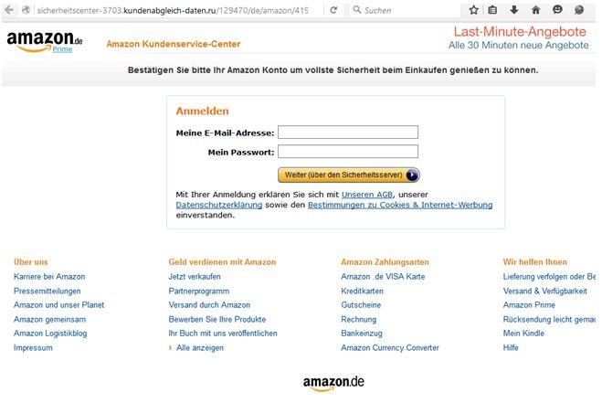 amazon konto eingeben