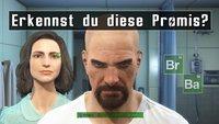 Erkennst du diese Promis, die wir in Fallout 4 nachgebaut haben?