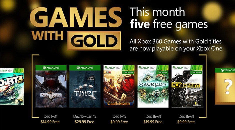 Games with Gold Xbox Live Dezember 2015