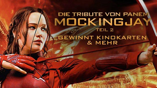 Gewinnt Kinotickets zu Die Tribute von Panem: Mockingjay 2 & vieles mehr