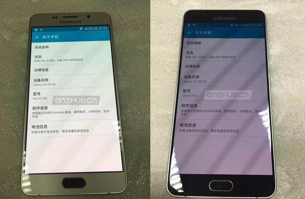 Samsung Galaxy A5 und A7 (2016): Spezifikationen und neue Bilder durchgesickert