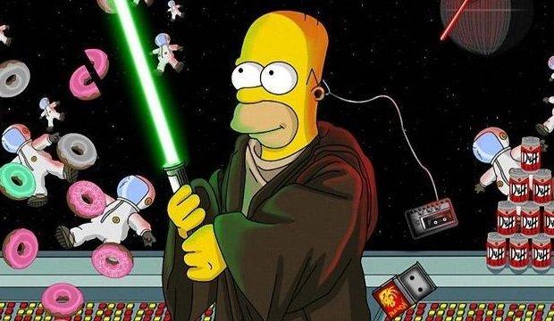 Gelbe Macht Die Besten Star Wars Referenzen In Den Simpsons Giga