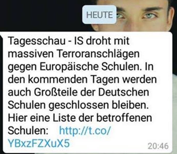 Terrorwarnung WhatsApp