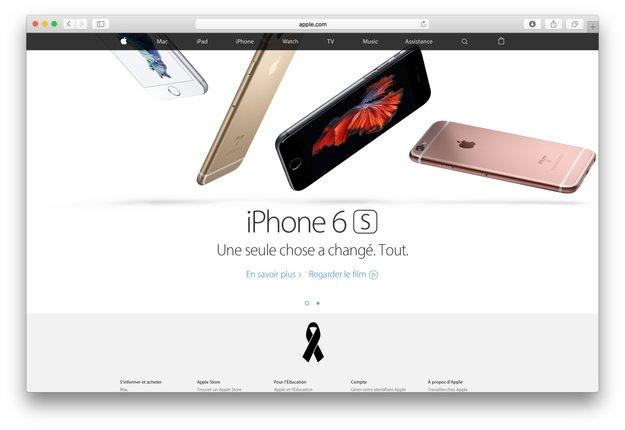 Paris-Anschläge: Apple zeigt schwarze Schleife und ruft Mitarbeiter an