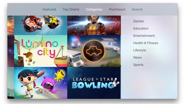 Apple TV: App Store bekommt weitere Kategorien