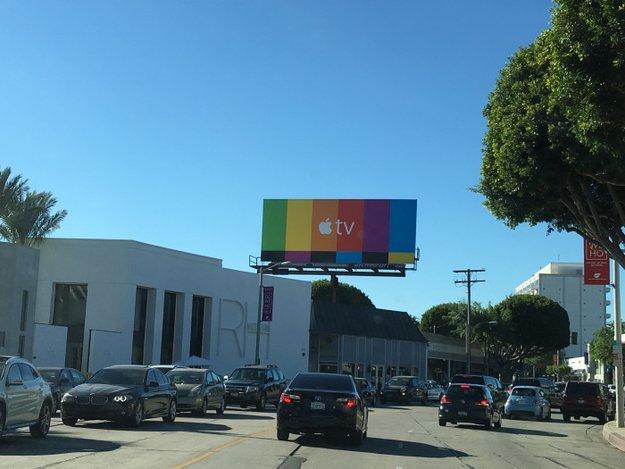 Apple-TV-Werbung auf Großplakaten in den USA