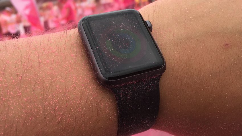 Mit der Apple Watch beim Color Run Berlin