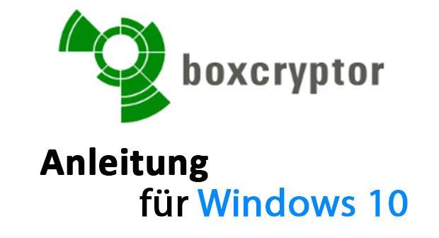 Boxcryptor in Windows 10 installieren, einrichten und nutzen – Anleitung