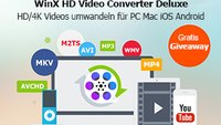 [Gratis Giveaway] WinX HD Video Converter Deluxe - Allround Videokonverter