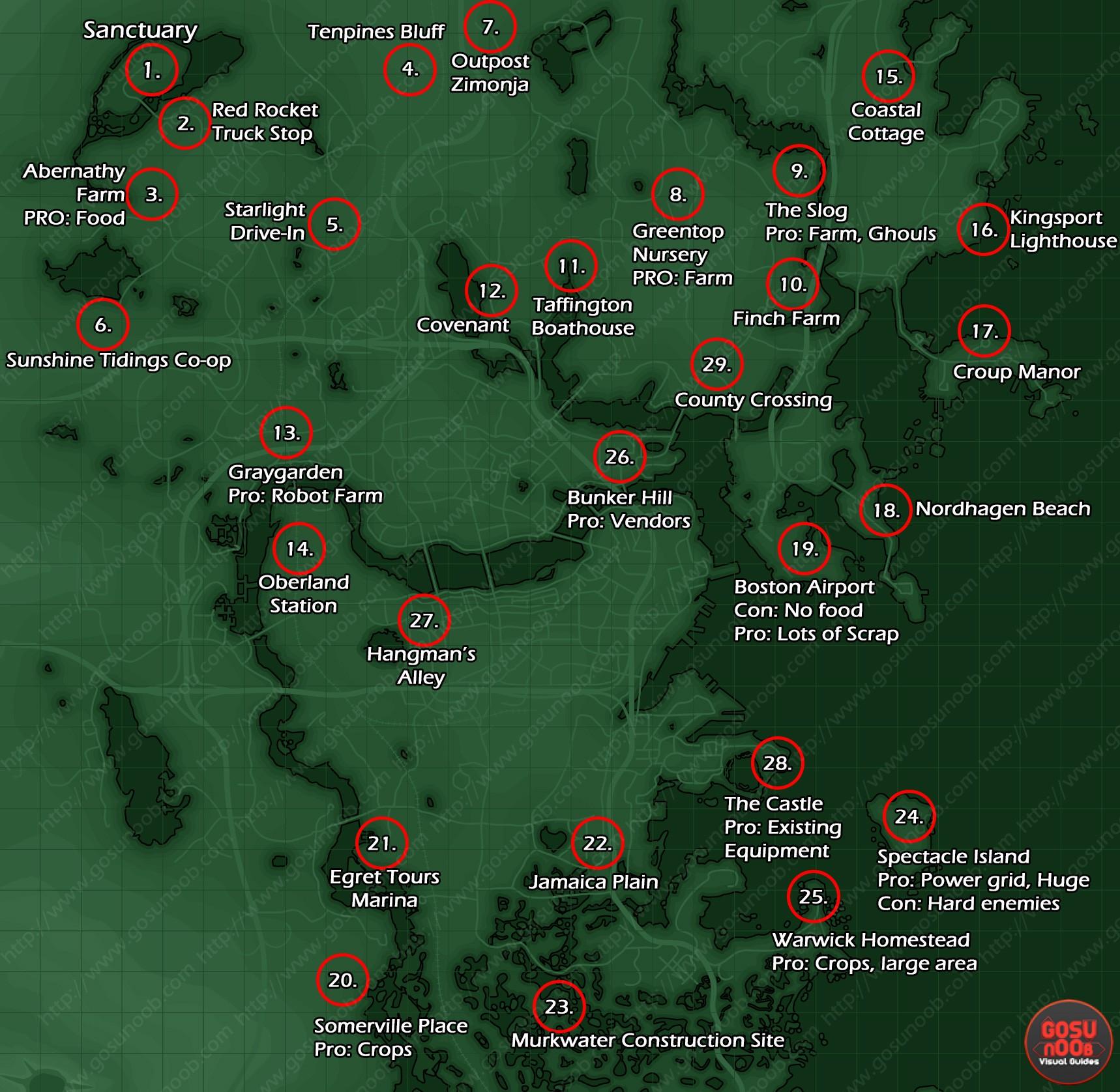 fallout 4 karte Fallout 4 Siedlungsbau: Moral erhöhen, Siedler zuweisen und Aufbau
