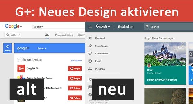 Google+: Neues Design aktivieren – So geht's