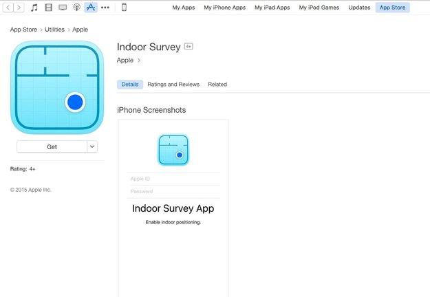 """""""Indoor Survey App"""" von Apple im App Store aufgetaucht"""