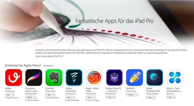 Apple bewirbt Apps und Spiele fürs iPad Pro im App Store